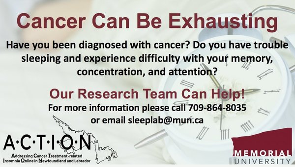 Got cancer? Can't sleep? Help is available
