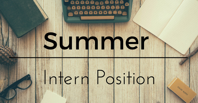 We're Hiring for a Summer Position. image