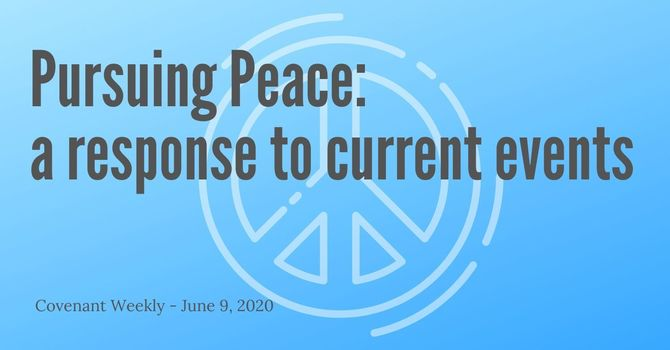 Pursuing Peace - A Response to Current Events image