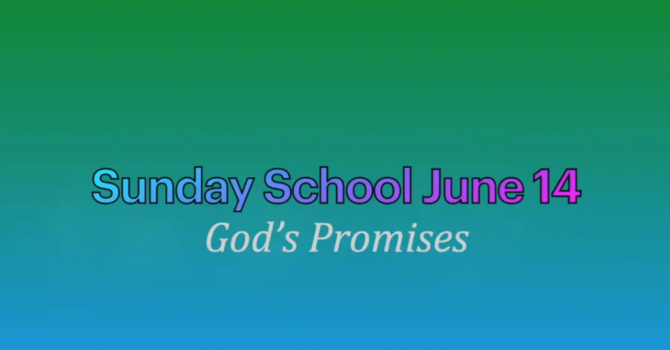 Sunday School June 14