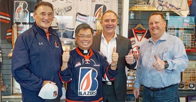 Bishop Visits Blazers image
