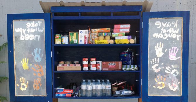 St. James School Blessing Box Helps Needy! image