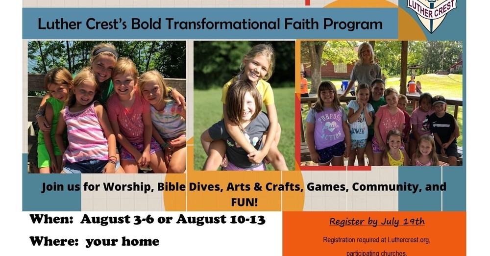 Luther Crest Bold Transformational Faith Program