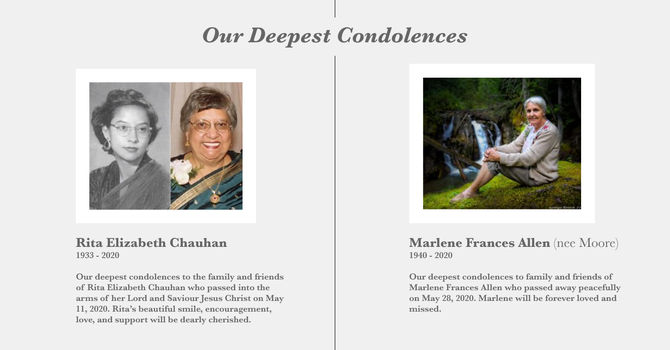 Our Deepest Condolences image