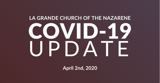 April 2nd, 2020 COVID-19 Update image