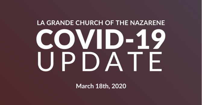 March 18th, 2020 COVID-19 Update image