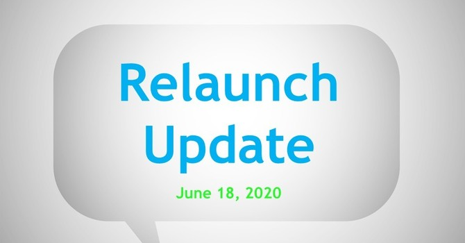 Relaunch Update ~ June 18, 2020 image