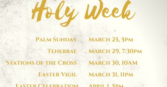 HOLY WEEK 2019 image