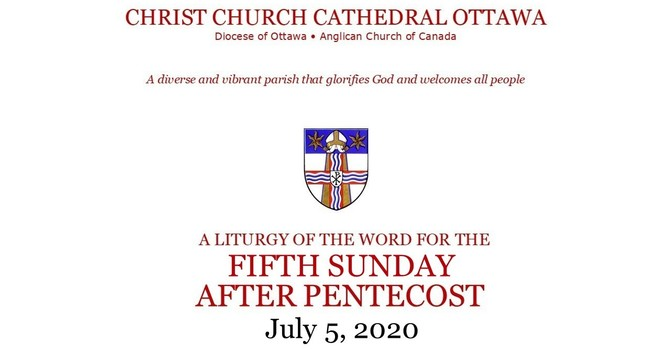 Online Sunday service for the Fifth Sunday After Pentecost
