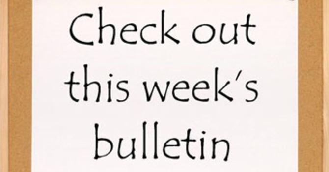 The weekly Bulletin is now available online image