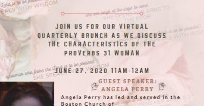 "Single Women Virtual Brunch ""She Laughs at the Days to Come"" June 27 image"