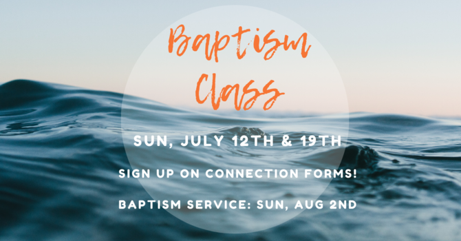 Baptism Classes