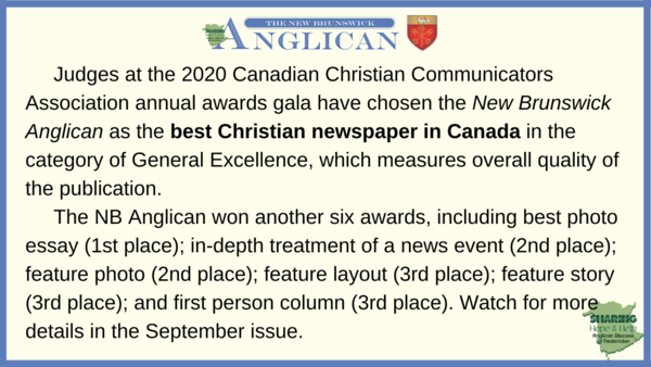 Awards won by the NB Anglican!