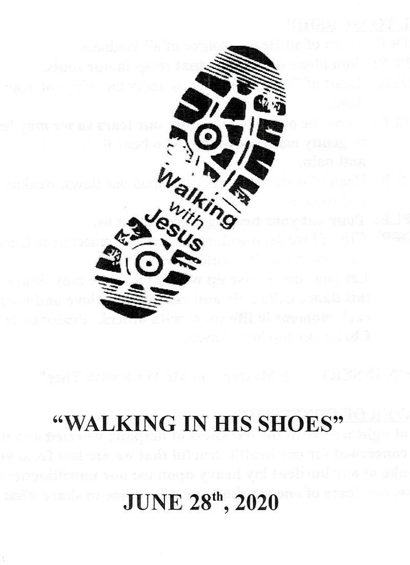 """Walking In His Shoes"""