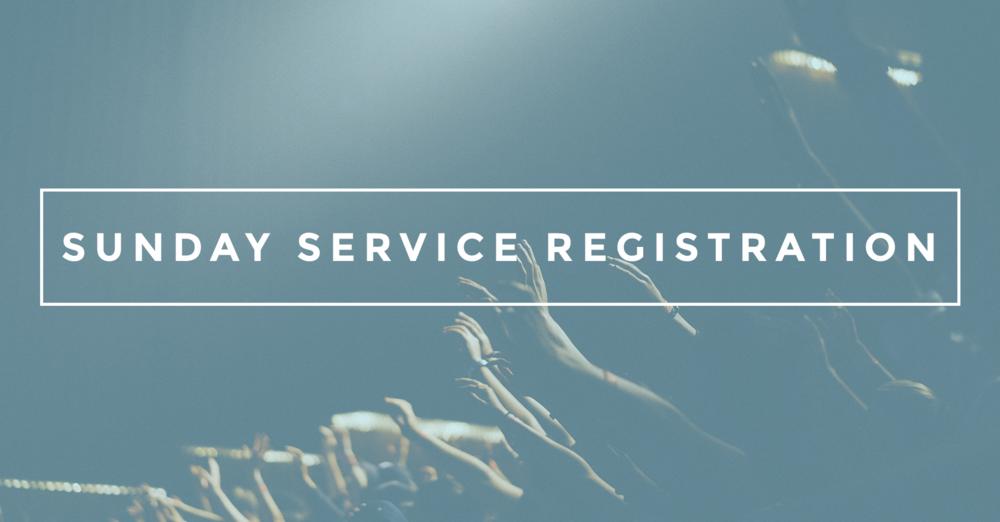 Sunday Service Registration