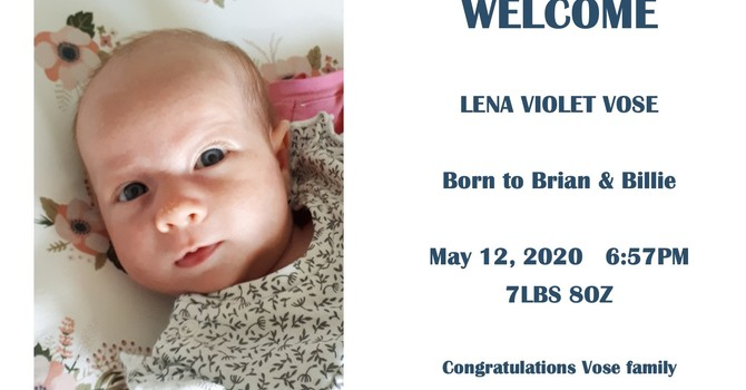 Brian and Billie Welcome baby Lena