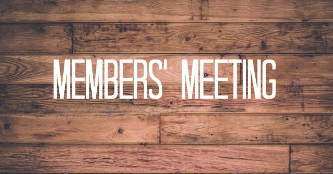 Special Member's Meeting