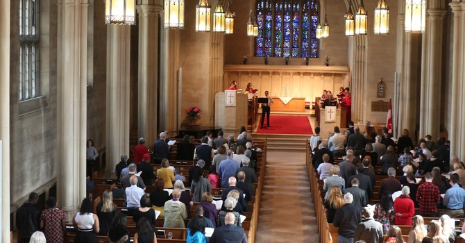 Worshipping in Knox Sanctuary image