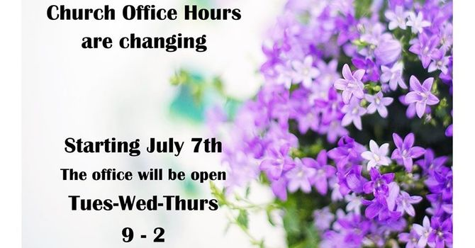 Office hours changing