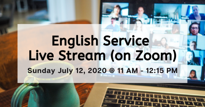 English Service Live Stream (on Zoom)