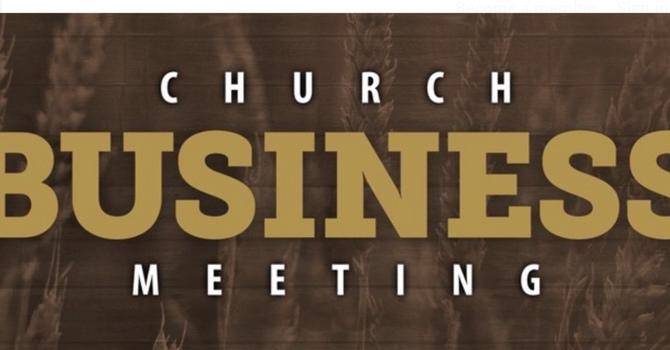 Church Business Meeting  image