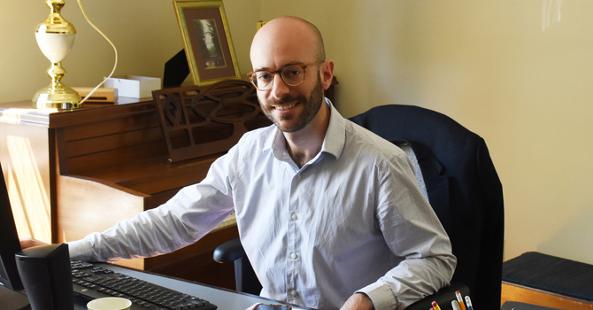 Cathedral's new music director embraces role! image