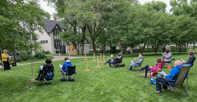 Families Return to Messy Church and Vespers in Christ Church Gardens image