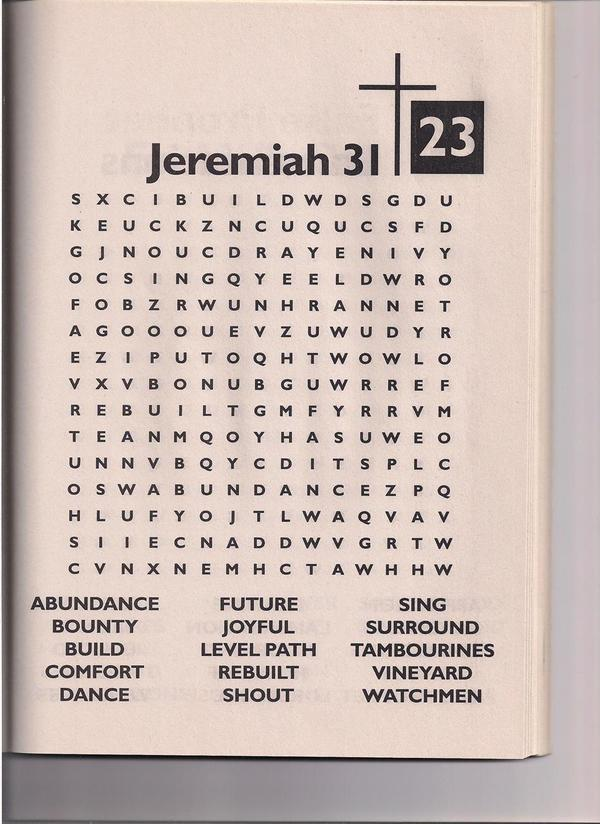 SUNDAY SCHOOL: WORD SEARCH