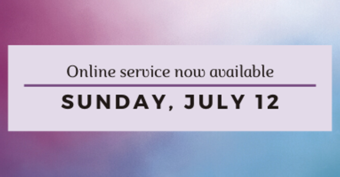Online Worship Service now available image