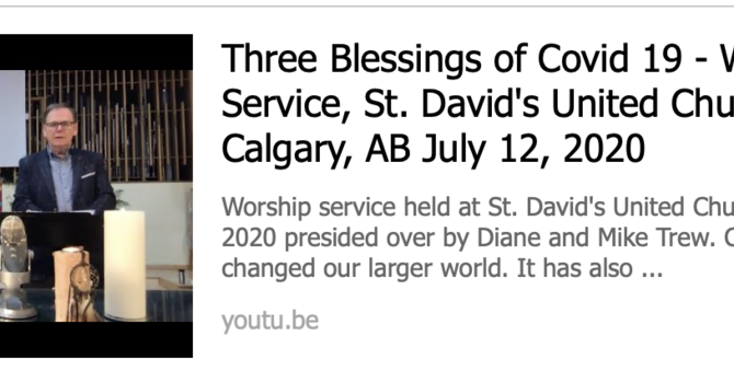THREE COVID-19 BLESSINGS