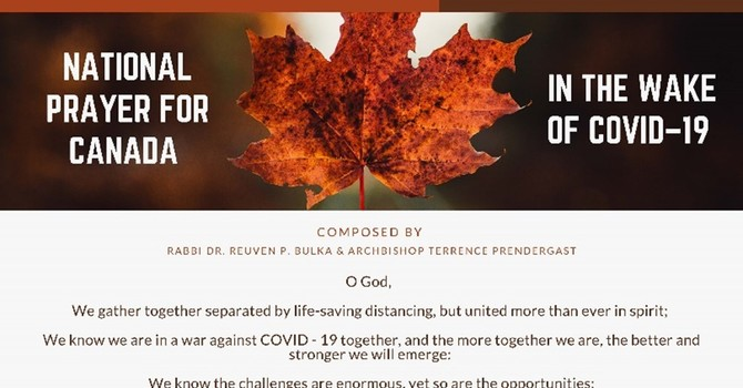 National Prayer for Canada in the wake of COVID-19 image