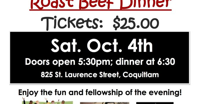 St. Laurence, Coquitlam: Auction and Roast Beef Dinner image