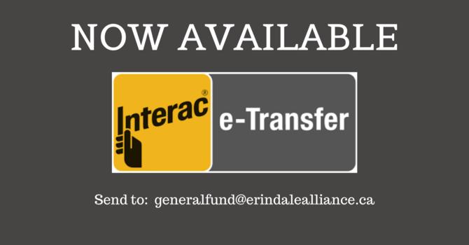 NEW!  E-Transfer Donations image