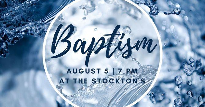 Baptism at the Stockton's