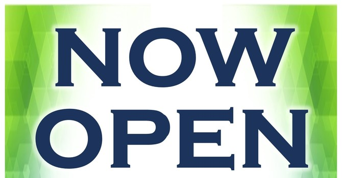 We are open! image
