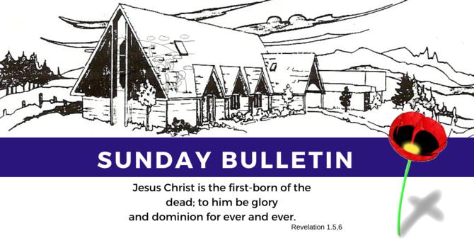 Bulletin - Sunday, November 10, 2019 image