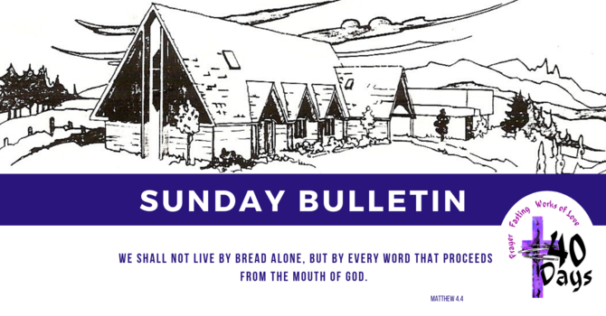 Bulletin - Sunday, March 10, 2019 image