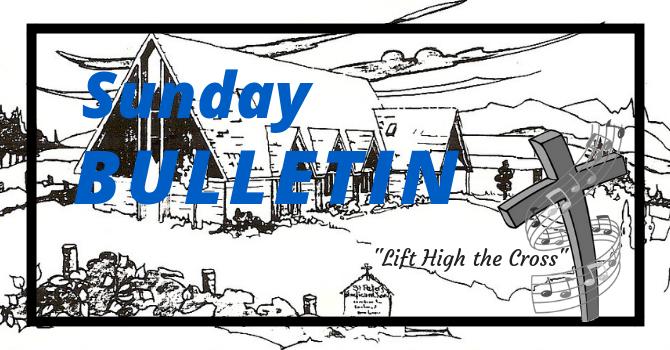 Bulletin - Sunday, September 16, 2018 image