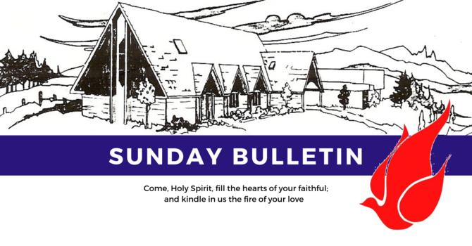 Bulletin - Sunday, June 9, 2019 image