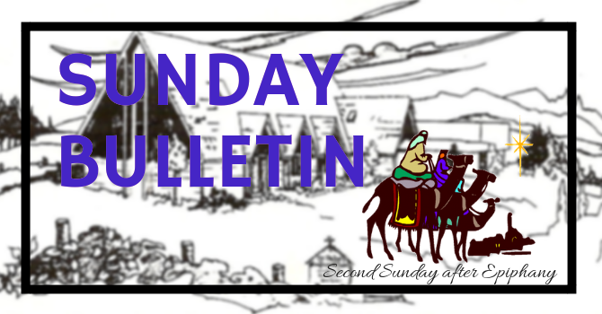 Bulletin - Sunday, January 20, 2019 image