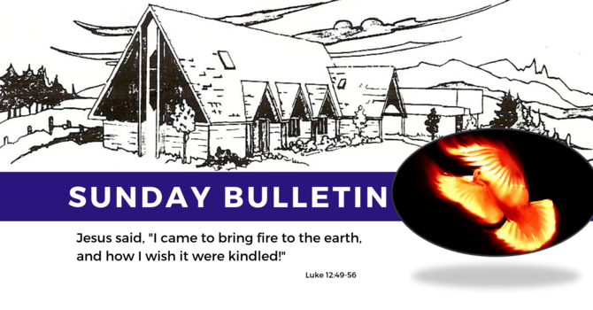 Bulletin - Sunday, August 18th, 2019 image