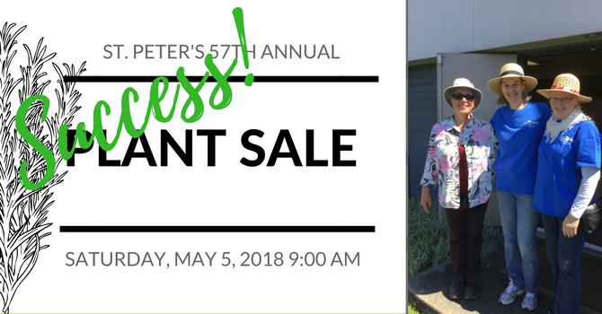 St. Peter's 57th Annual Plant Sale - a BIG success! image