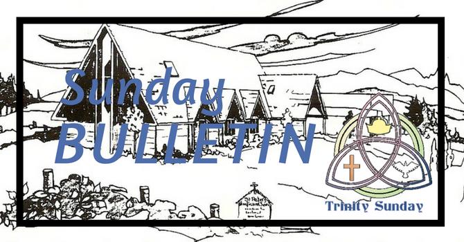 Bulletin - May 27, 2018 Trinity Sunday image