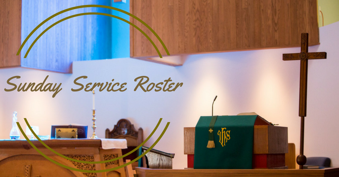 Sunday Service Roster July to August image