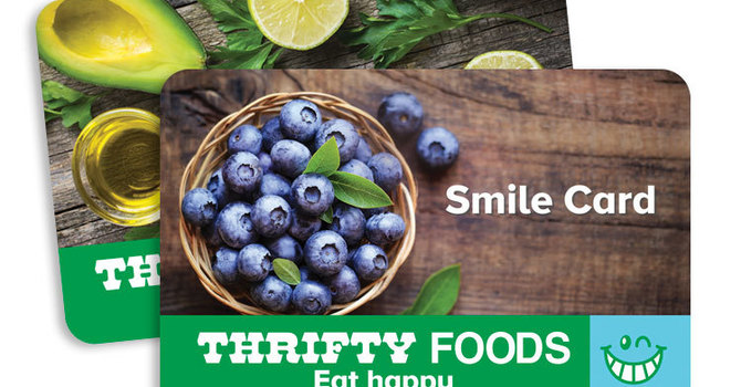 Thrifty Foods Smile Card Fundraising Program