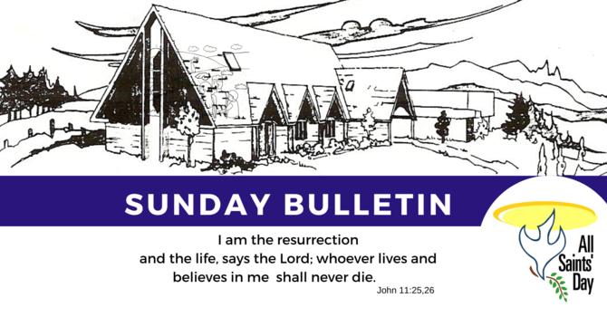 Bulletin - Sunday, November 3, 2019 image