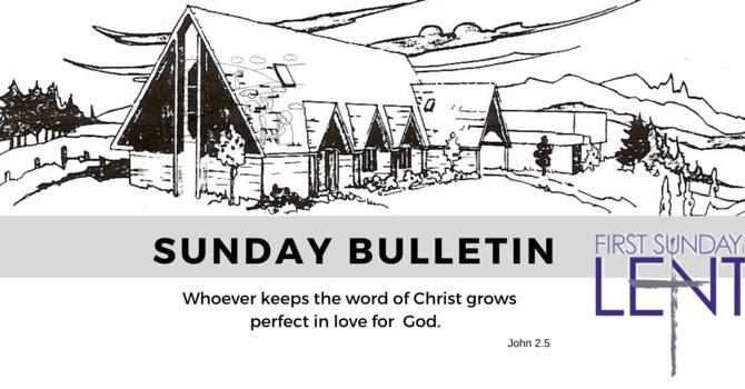 Bulletin - Sunday, March 1, 2020 image
