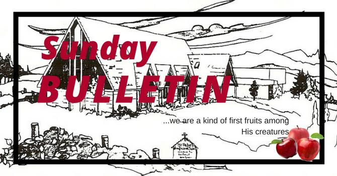 Bulletin - Sunday, September 2,  2018 image