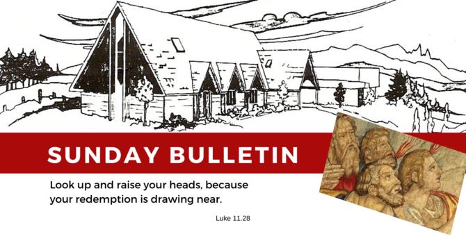 Bulletin - Sunday, November 17,  2019 image
