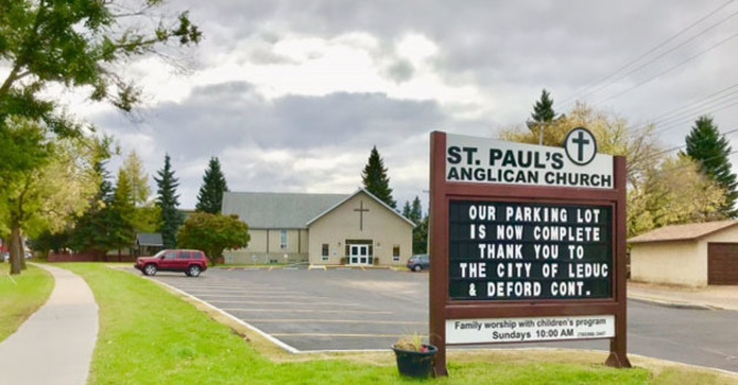 St. Paul's, Leduc Grateful for Parking Lot Improvements image